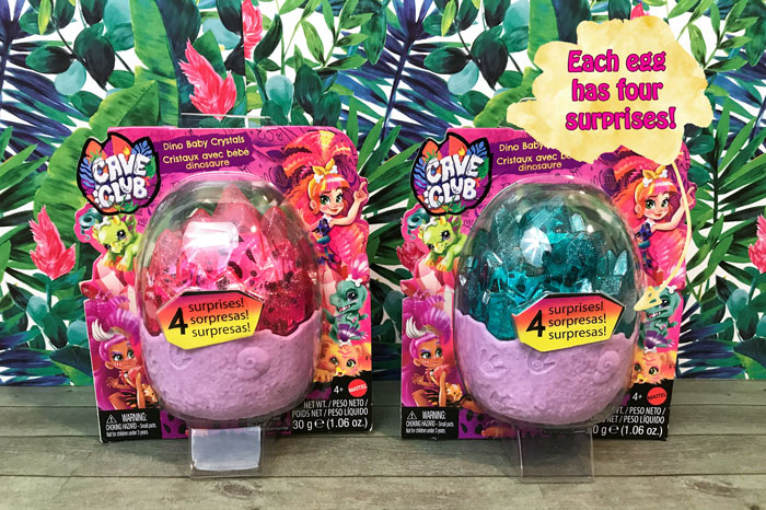 Each Dino Baby Crystal egg has four surprises.