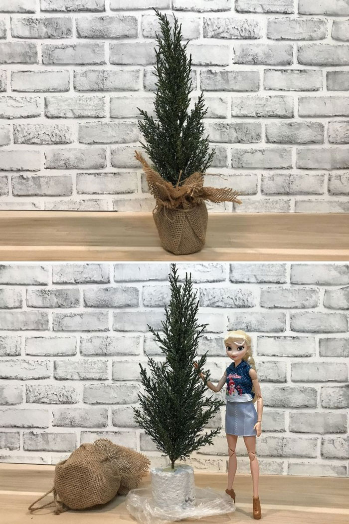 Miniature Christmas Tree For Doll Room.