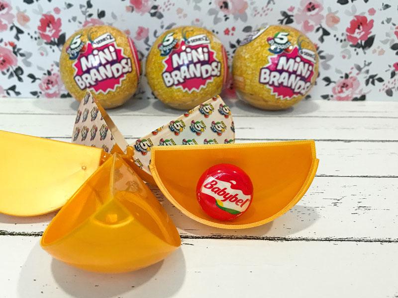 5 Surprise Mini Brands: Babybel Cheese.