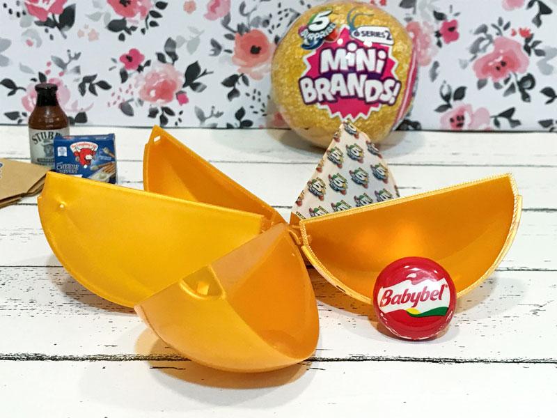 5 Surprise Mini Brand Season 2: Babybel Cheese.