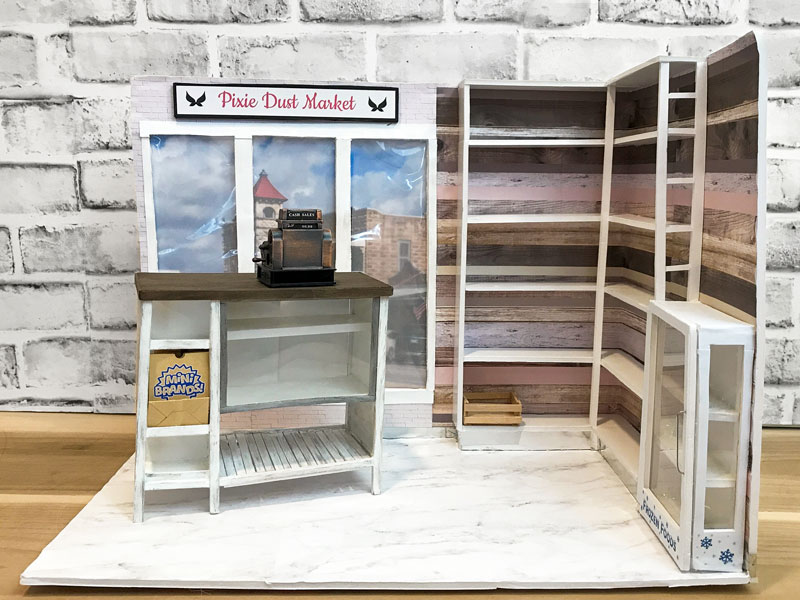 Folding Grocery Store for Barbie Dolls.