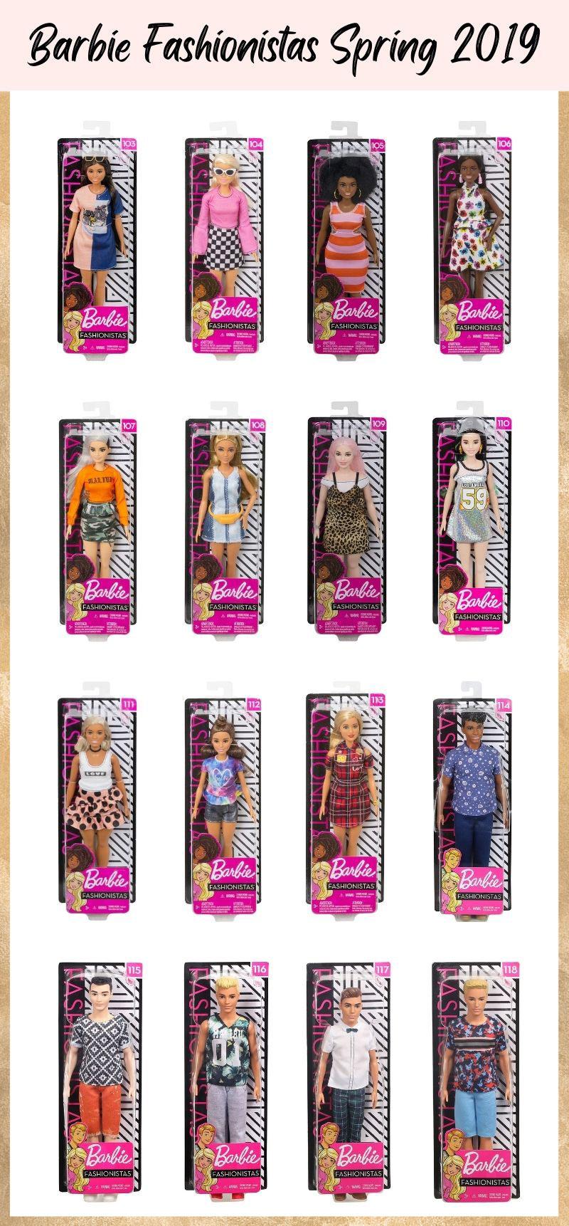 Barbie Fashionistas Spring 2019.