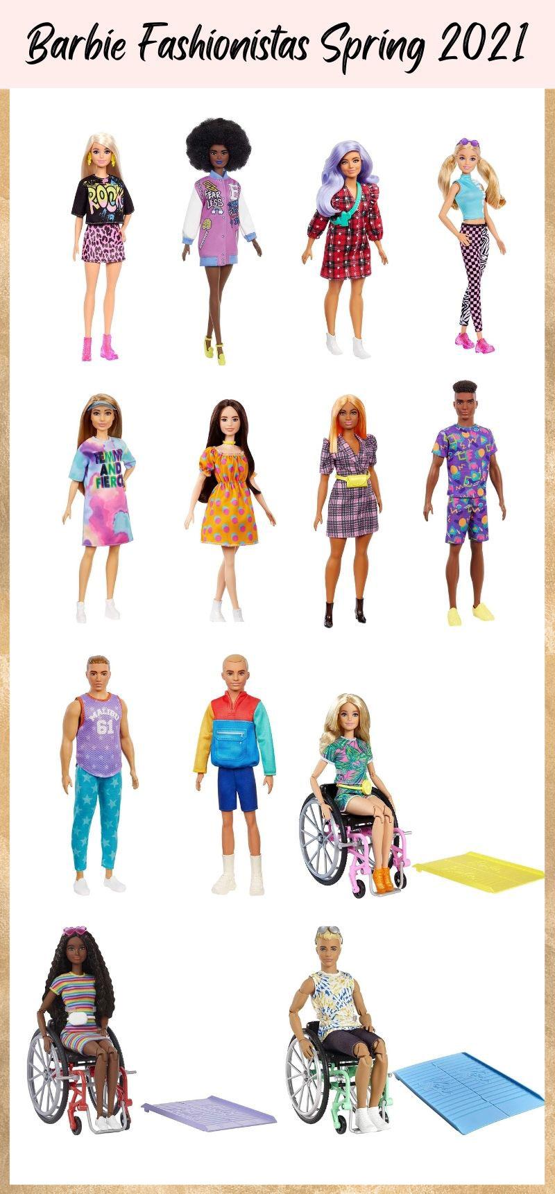 Spring 2021 Barbie Fashionistas.