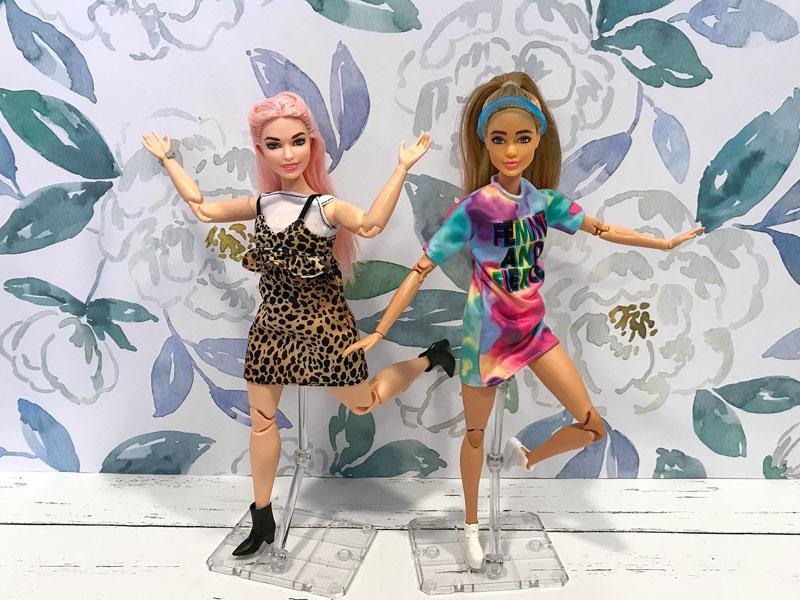 Custom Barbie Fashionistas.