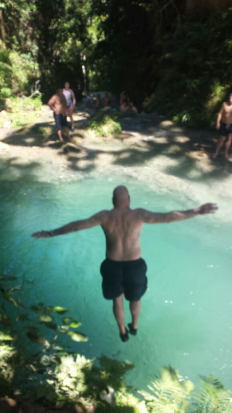 Jumping into the Irie Blue Hole, Ocho Rios