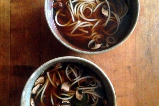 miso mushroom noodle soup: from pixiespocket.com and miso master miso! (giveaway valid through March 10, 2017)