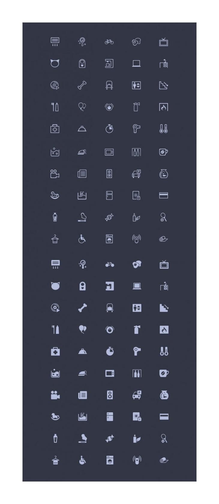 Amenities – 50 Misc Icons