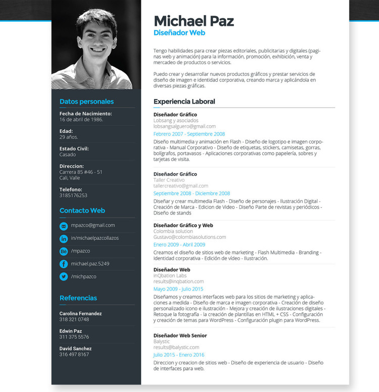 free-vector-resume-template