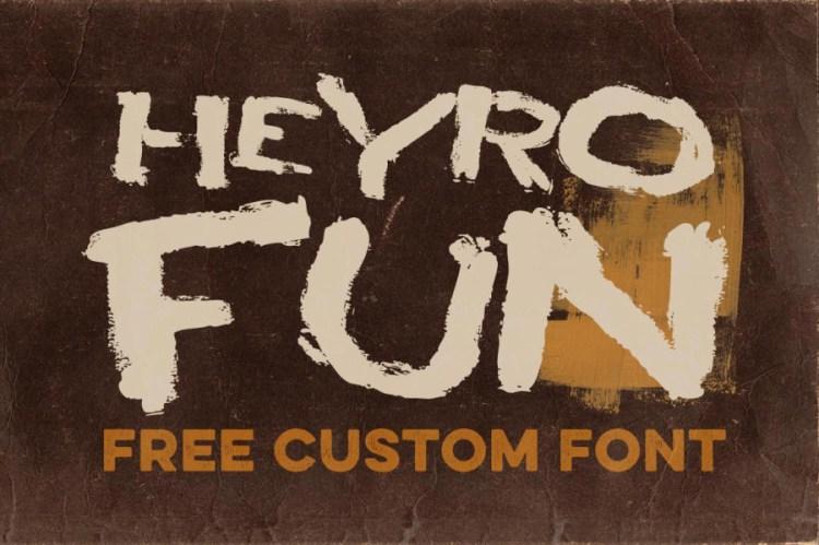 HEYRO Fun – Free Font