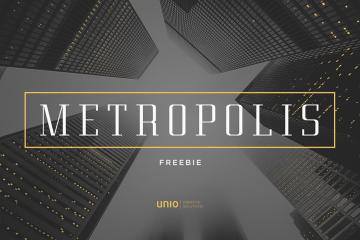 Metropolis free Font