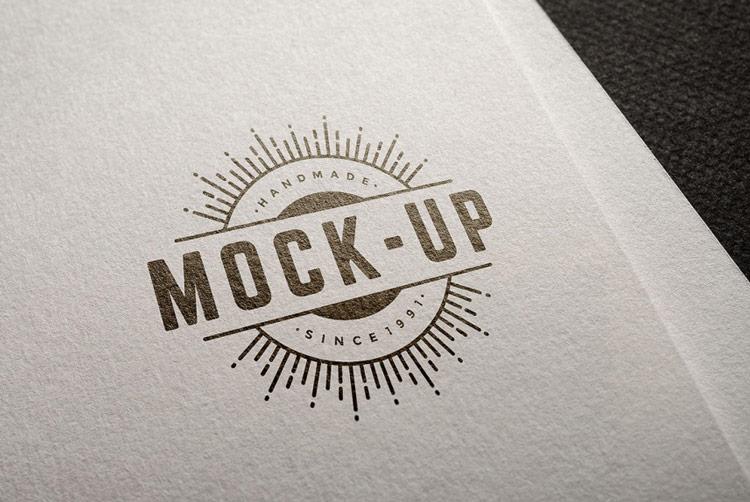 PSD Logo Mockup Free download