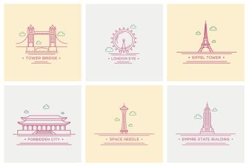 free-world-landmark-icons-color
