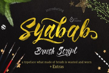 Syabab Brush Free Script font