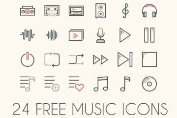 free music vector icons