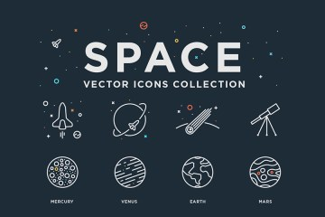 Space free Vector Icons