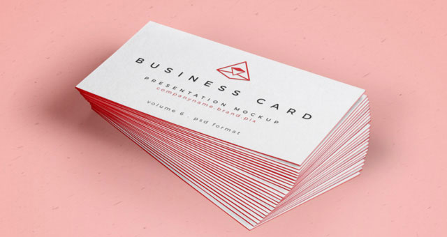 Psd Business Card Mock-Up Vol26