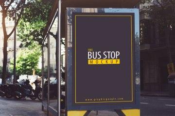 Bus Stop PSD Mockup
