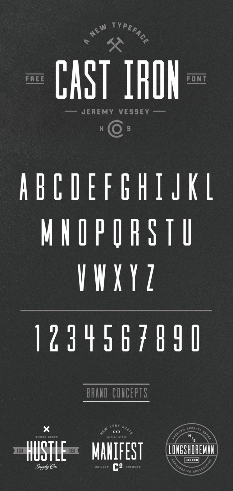 Cast Iron Free Typeface