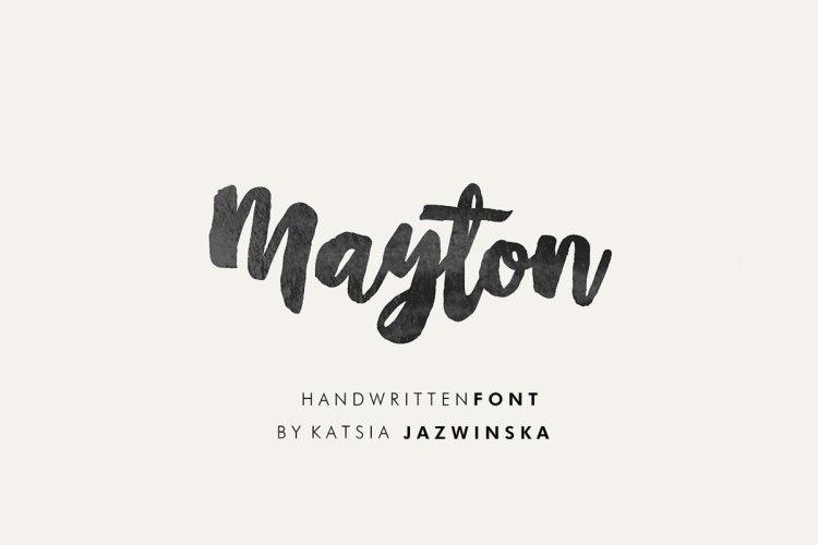 Mayton Free Brush Script