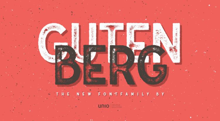 Gutenberg Free Typeface