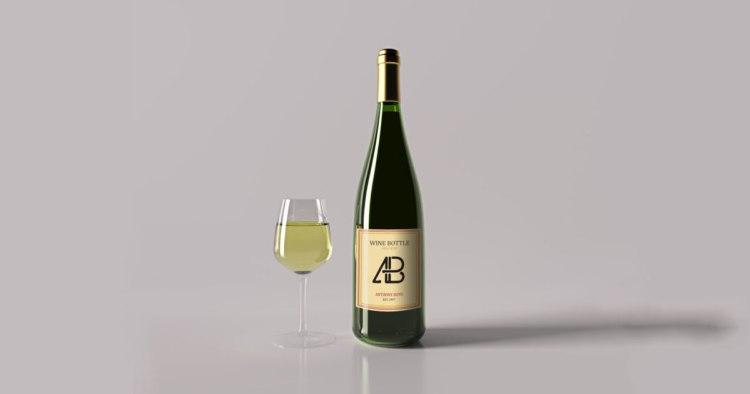 Realistic Wine Bottle PSD Mockup Vol.2