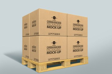 Free Cardboard Box Mockup Psd For Packaging 2017