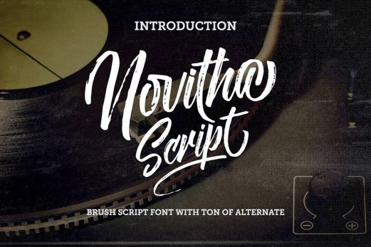 Novitha Free Script