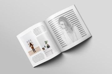 Free Square Magazine Brochure Psd Mockup