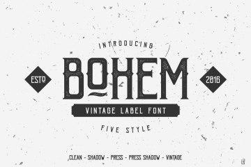 Bohem-Press-Free-Vintage-Font