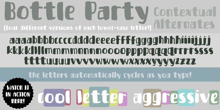 Bottle Party Font Demo