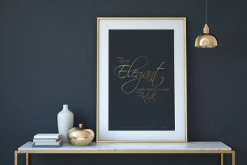 Elegant Photo Frame Psd Mockup
