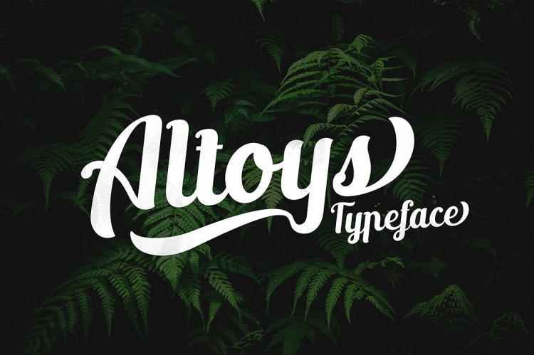 Altoys Typeface Free demo
