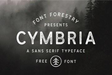 Cymbria Free Rough Font Family