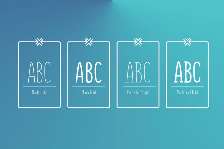 Monly Free slab serif Font