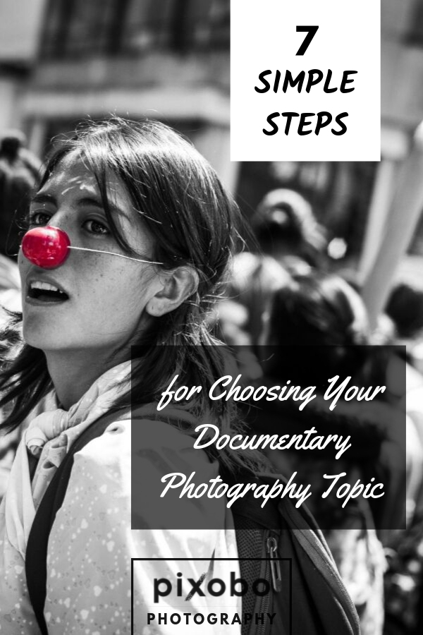 Do you want to know how to become a documentary photographer? It\'s one of the most interesting photography niches because documentary photos can tell a story in a special way and show us the real-life situations, events, places, and people.  To prepare you better for documentary photography we have put together 7 simple steps for choosing your documentary photography topic. Don\'t miss our documentary photography tips because they will improve your documentary photography inspiration. #phototips