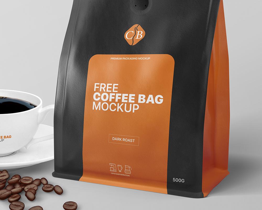 Download Free Coffee Bag Packaging Mockup | Free Mockups | PIXPINE