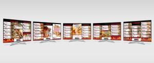 Menu schermen digitaal ontwerp