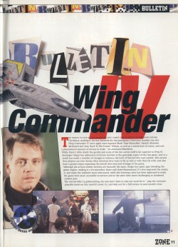 PC Zone Wing Commander 4 Bulletin - Page 2