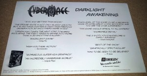 Cybermage poster - back
