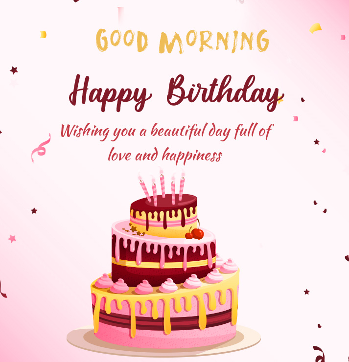Happy Birthday Good Morning With Beautiful Message Pix Trends