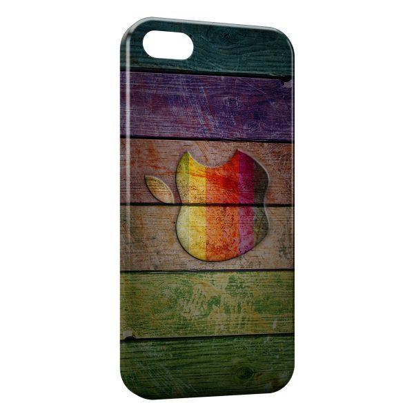 coque iphone 7 7 plus apple sur bois