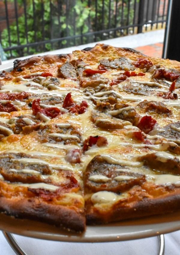 Italian Brunch Buffet and Meatball Pizza at Novara