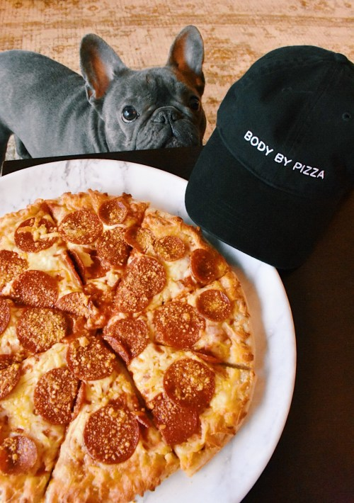 body by pizza hat