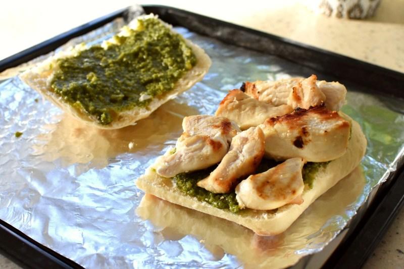 chicken pesto ciabatta sandwich