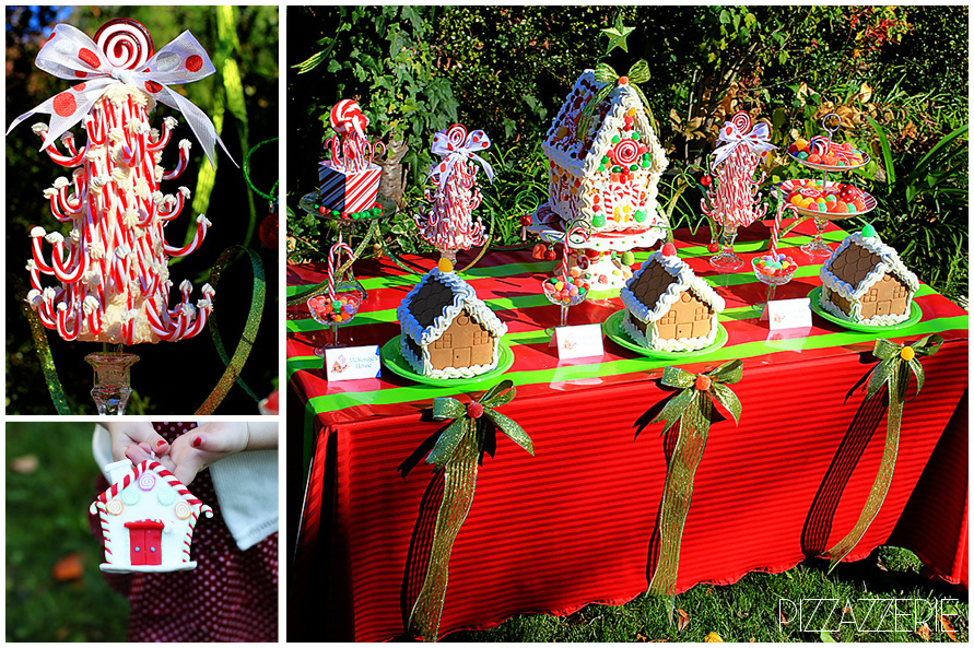 Childrens Gingerbread House Decorating Party Pizzazzerie
