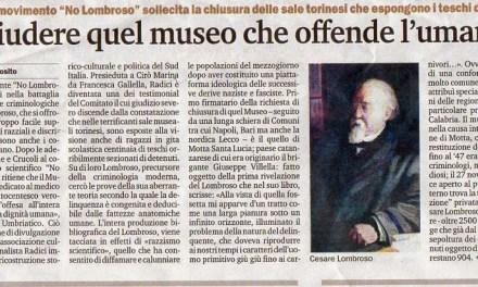 """10/4/2014.Torino.""""Chiudere quel museo che offende l'umanità"""""""