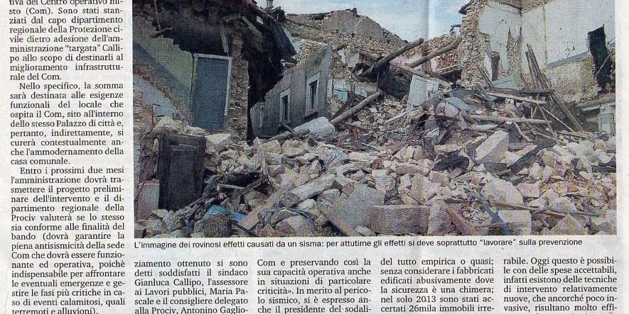 12/4/2014.Pizzo.Protezione civile, nuovi fondi