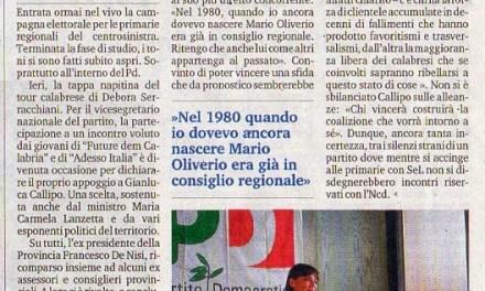 """10 Agosto 2014 Apparati da """"rottamare"""" per una Calabria diversa"""