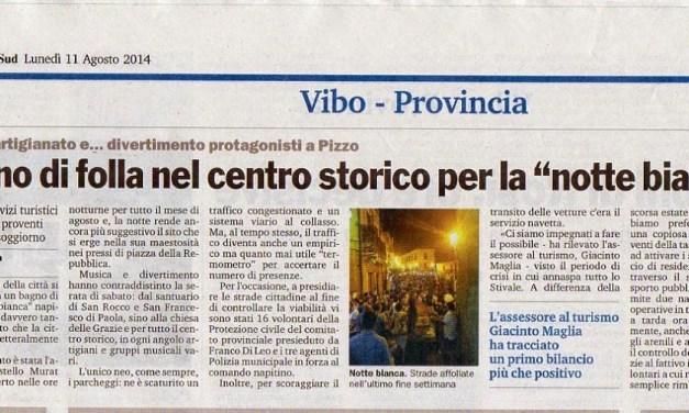 """11 Agosto 2014 Bagno di folla nel centro storico per la """"notte bianca"""""""