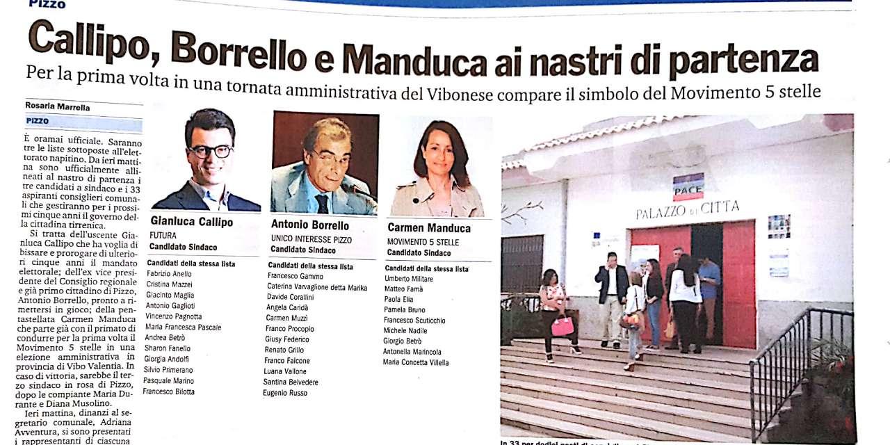 Callipo, Borrello e Manduca ai nastri di partenza